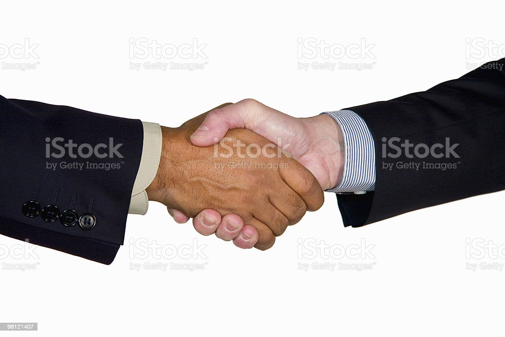 interracial business handshake royalty-free stock photo