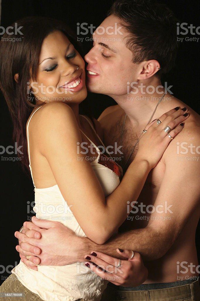 interracial couple royalty-free stock photo