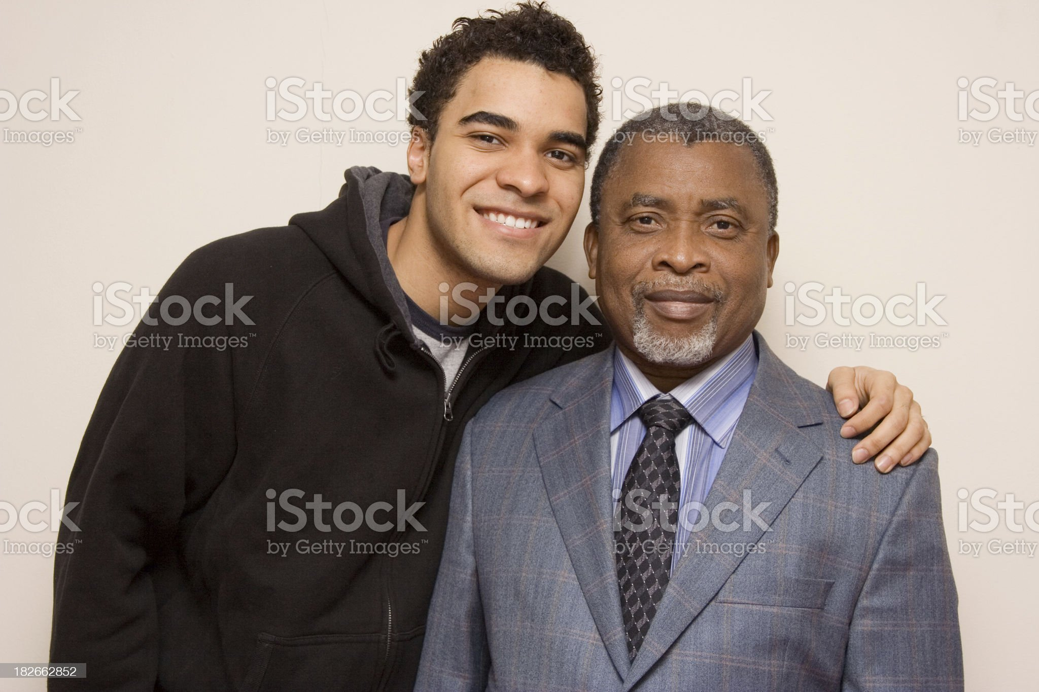 Interracial family - Father and son royalty-free stock photo