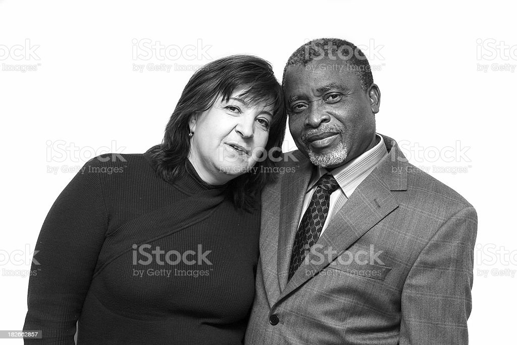 Interracial family - Husband and wife royalty-free stock photo