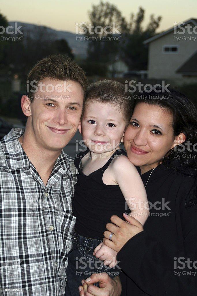 Inter-racial Family royalty-free stock photo