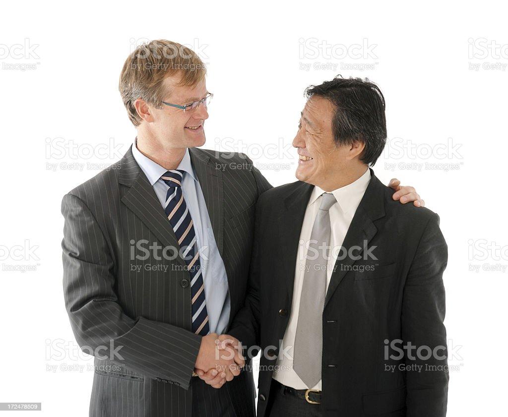 Interracial friendship. royalty-free stock photo