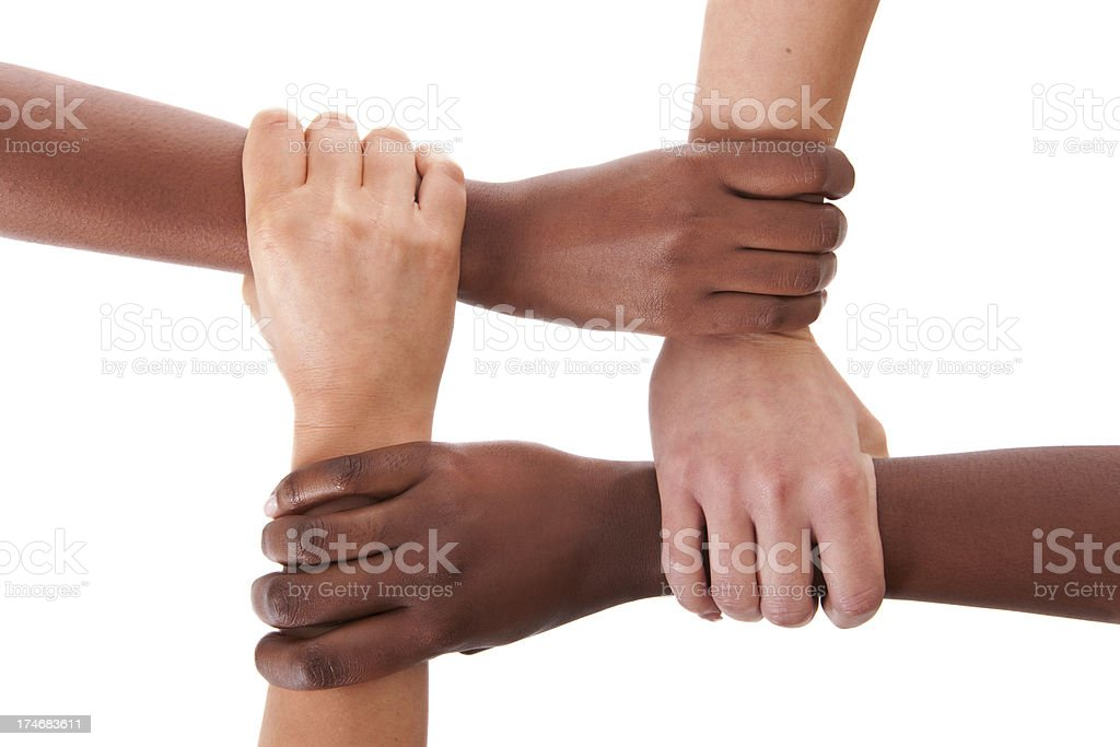 Interracial support stock photo