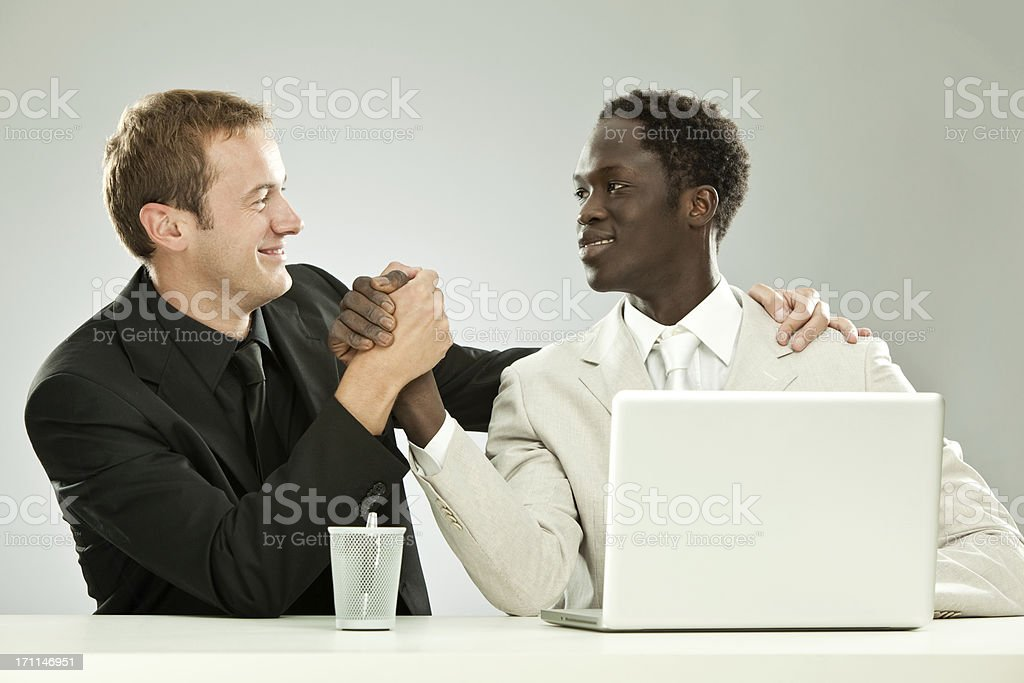 interracial  work team royalty-free stock photo