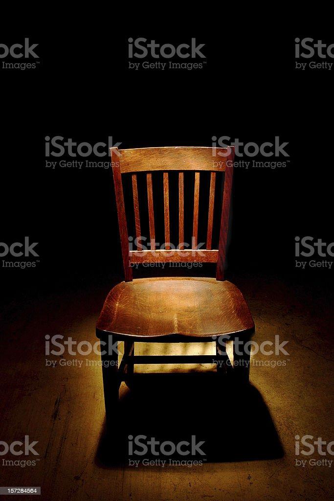 Interrogation Chair stock photo