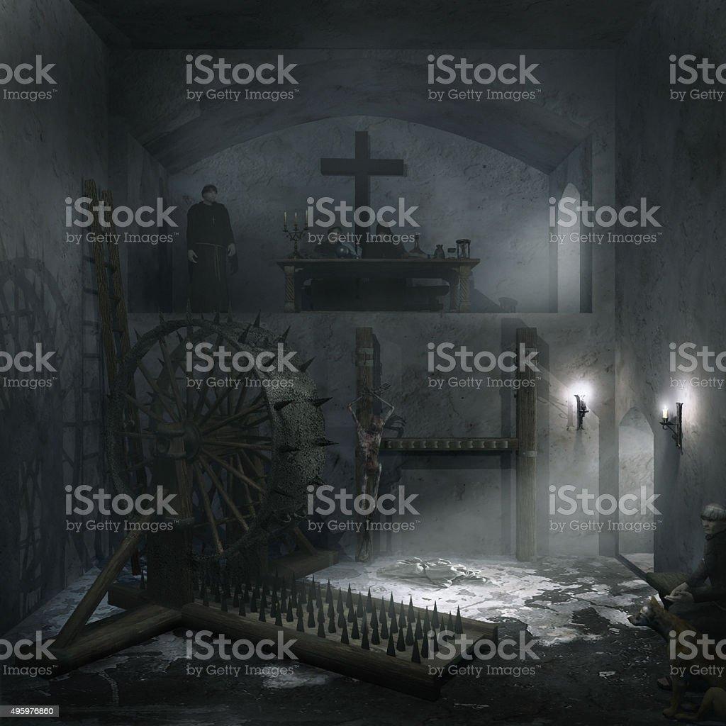 Interrogation chamber stock photo