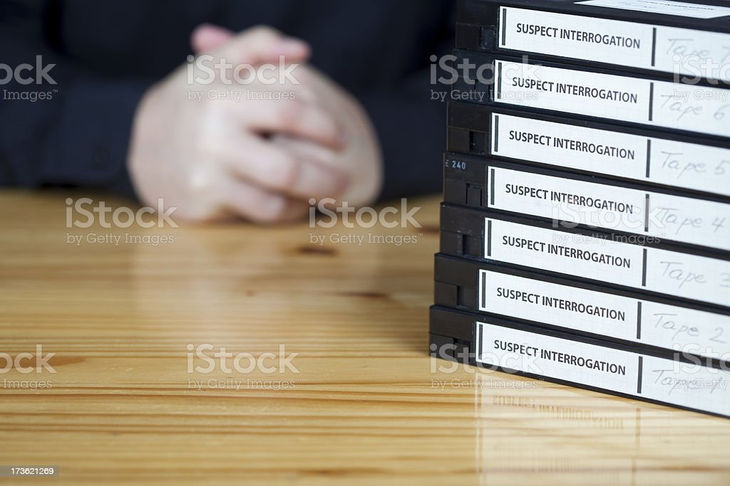 Interrogation of a suspect royalty-free stock photo