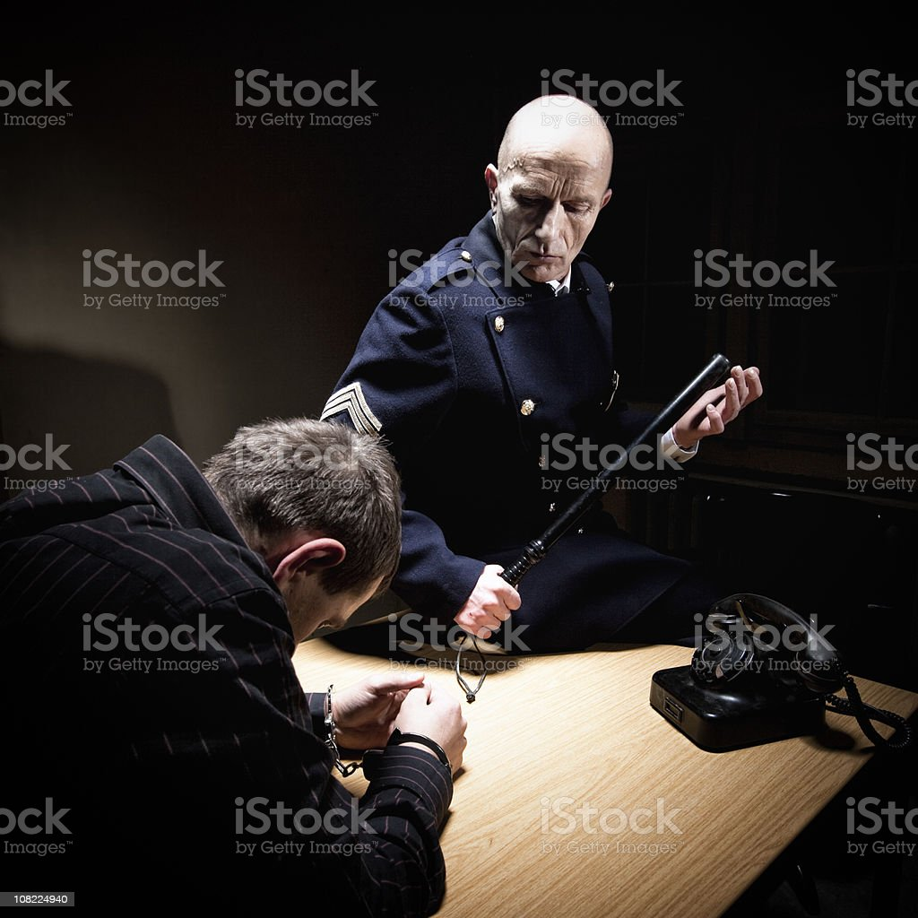 Interrogation royalty-free stock photo