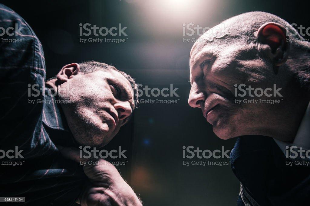 Interrogation stock photo
