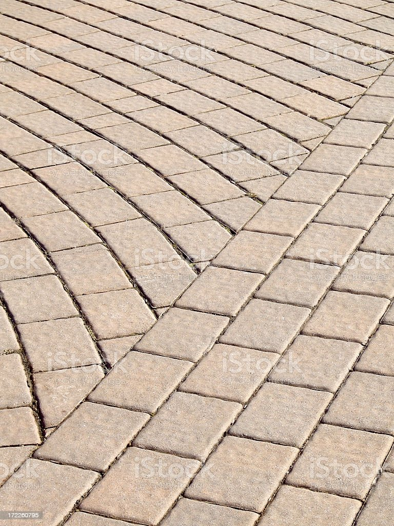 Intersecting Pavers royalty-free stock photo