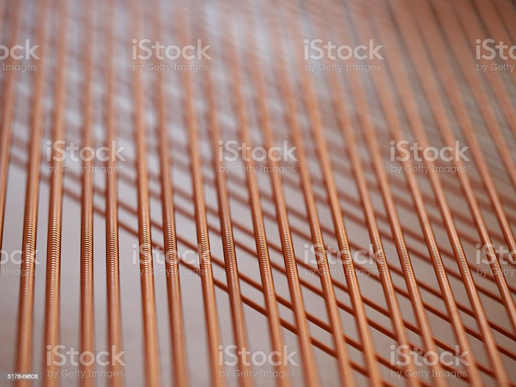 Intersecting Piano Strings stock photo