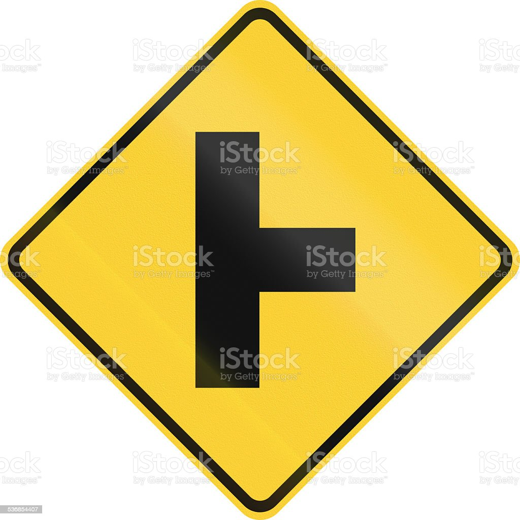 Intersection Ahead stock photo