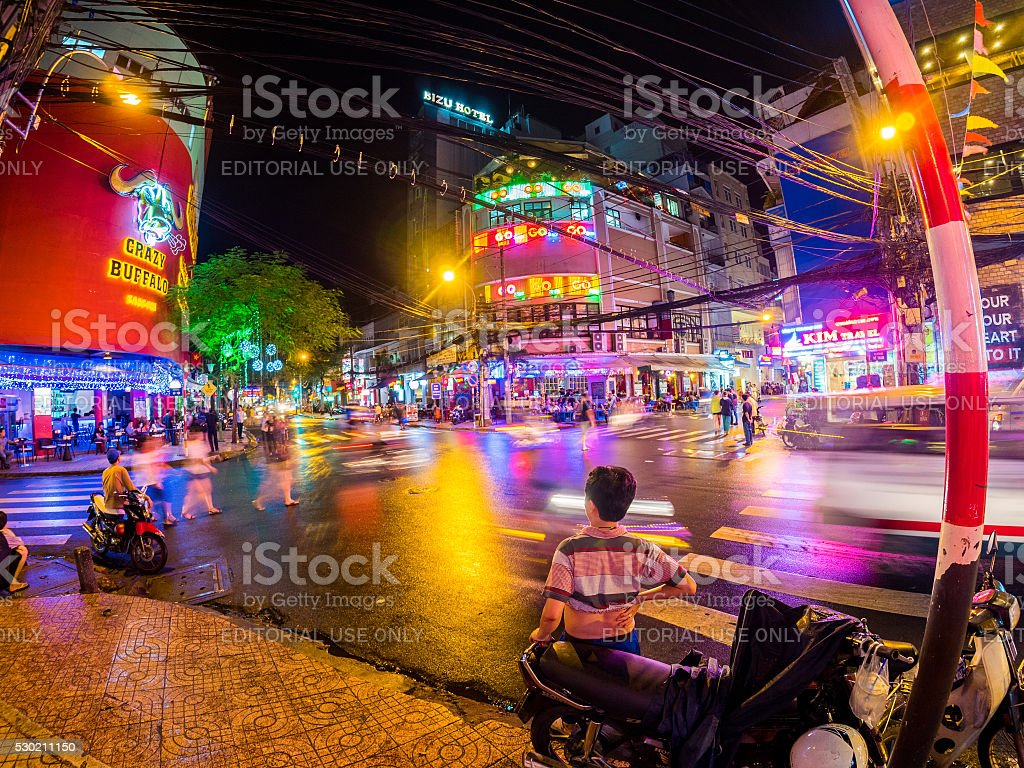 Intersection in Ho Chi Minh, Vietnam stock photo