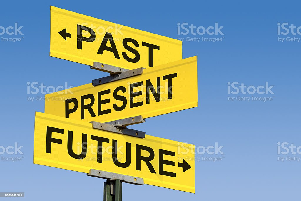 Intersection of Past Present and Future royalty-free stock photo