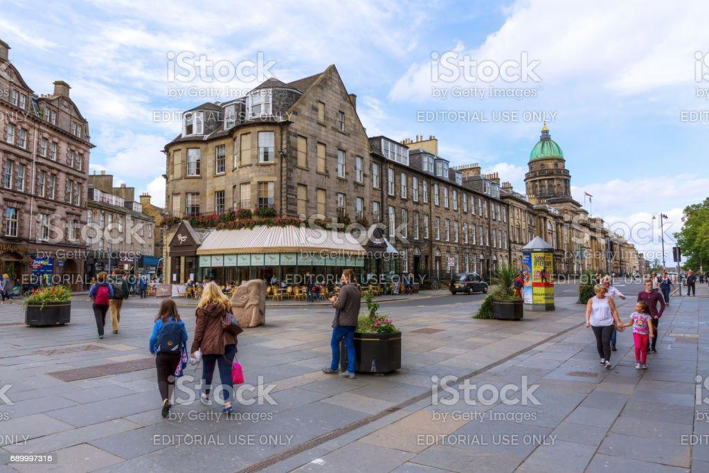 intersection Queensferry Street, Lothian Road in Edinburgh, UK stock photo