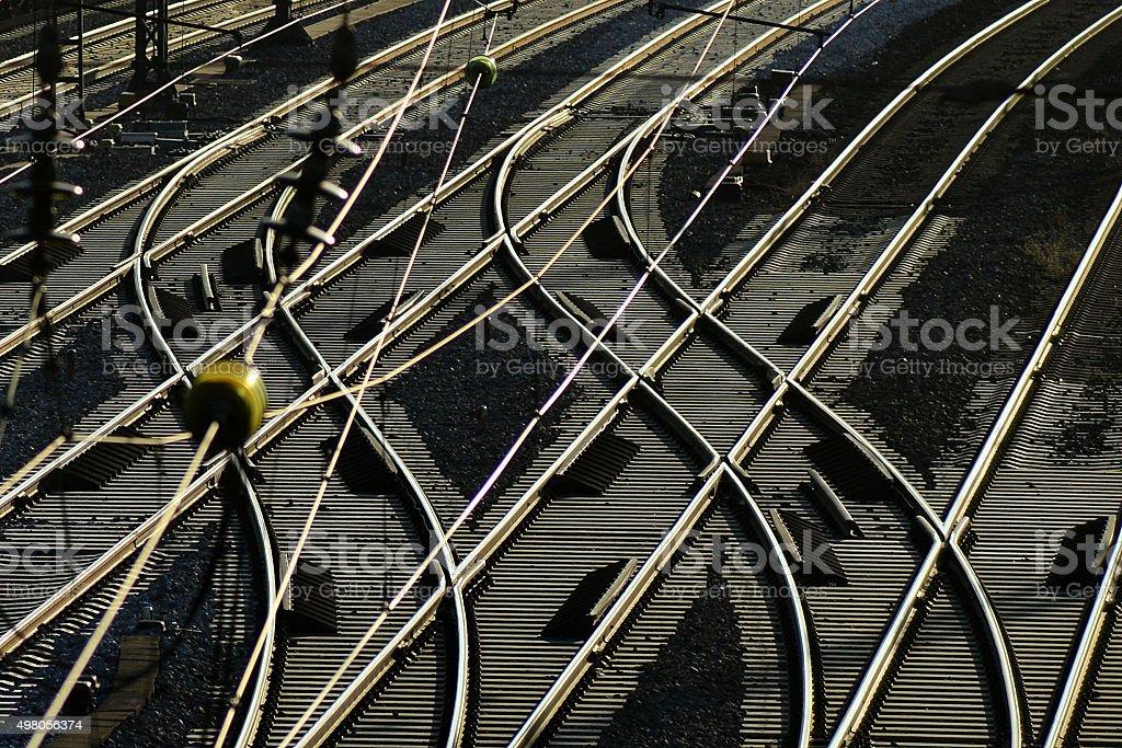 Intersection Railroad Tracks stock photo
