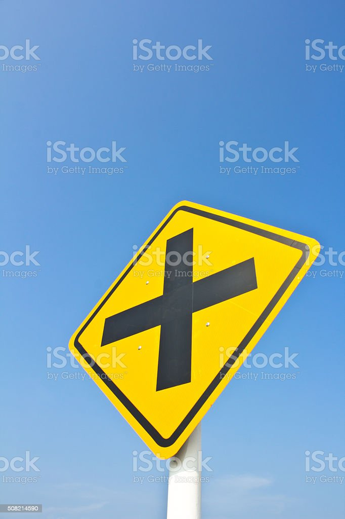 intersection sign stock photo