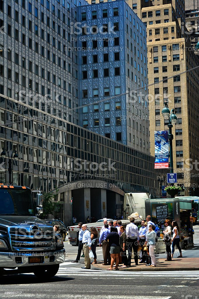 NYC Intersections, Pedestrians, 3rd. Ave & 42nd. Street, Manhattan royalty-free stock photo
