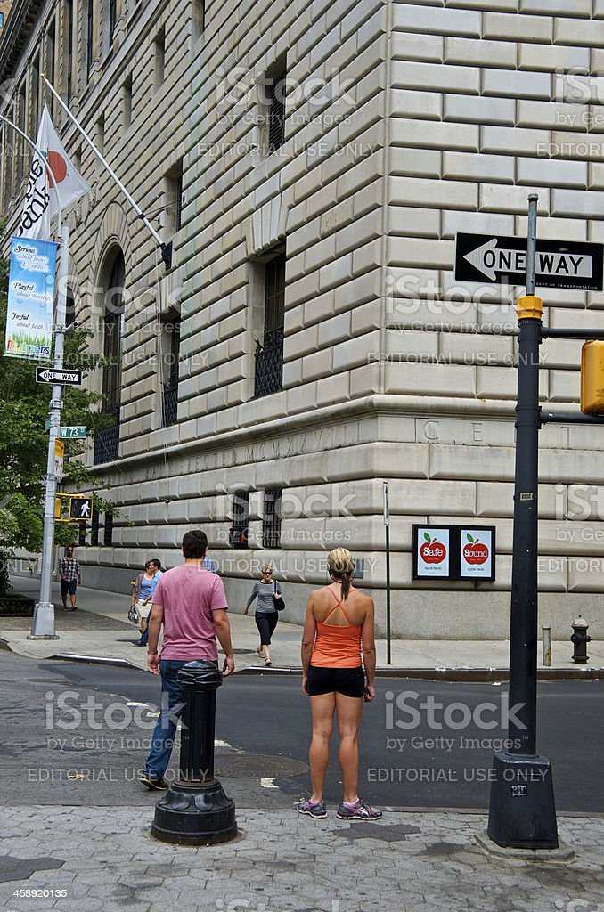 NYC Intersections, Pedestrians, W73rd Street & Broadway, Manhattan royalty-free stock photo