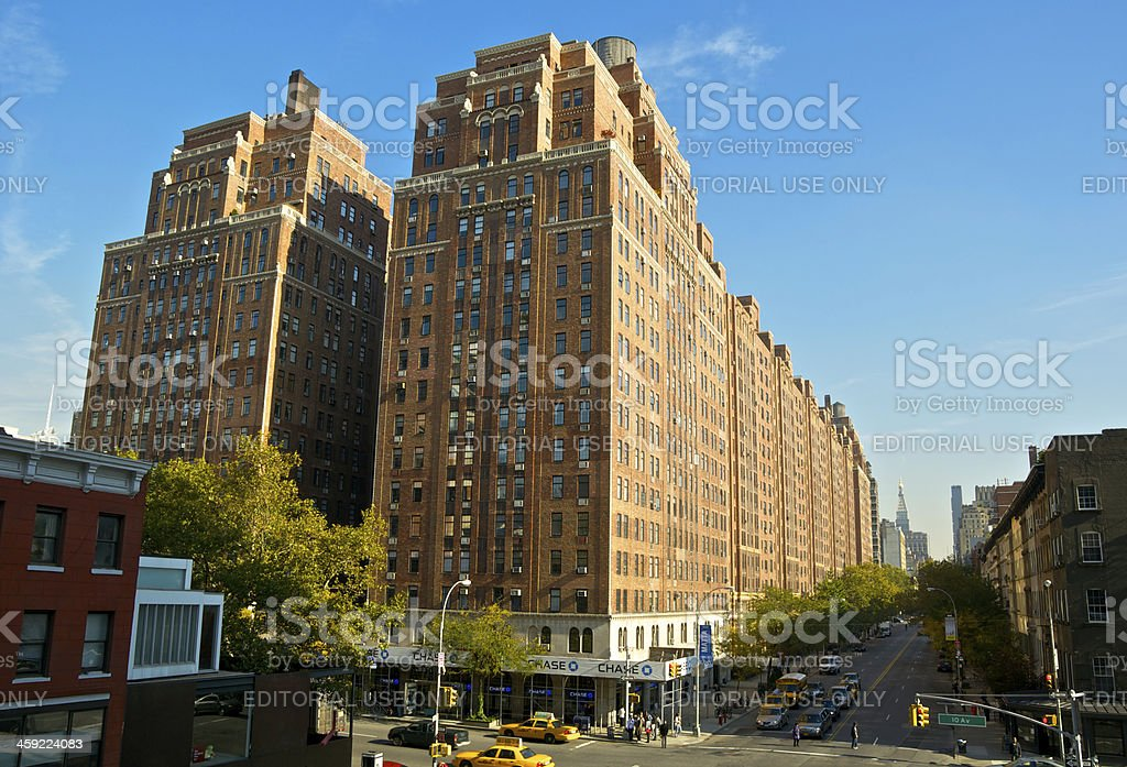 NYC Intersections, W23rd Street & 10th Avenue, Chelsea, Manhattan stock photo