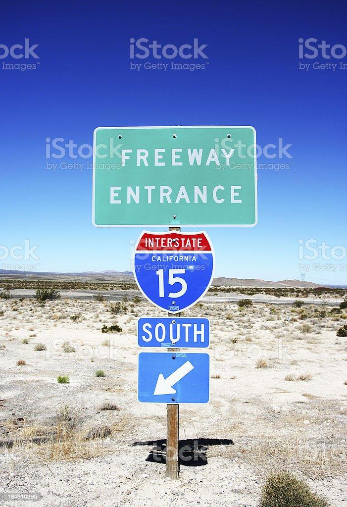 Interstate 15 royalty-free stock photo