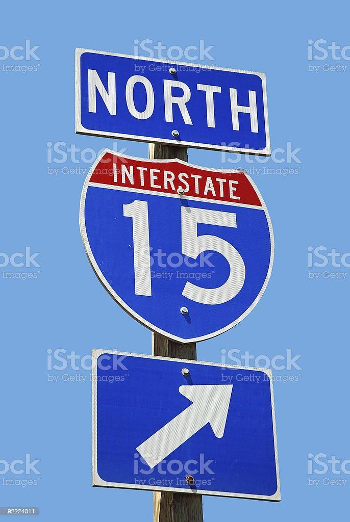 Interstate 15 stock photo