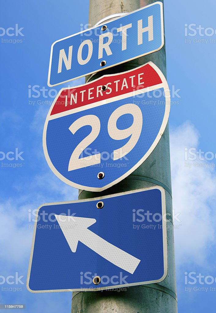 Interstate 29: Kansas City, Missouri, Iowa royalty-free stock photo