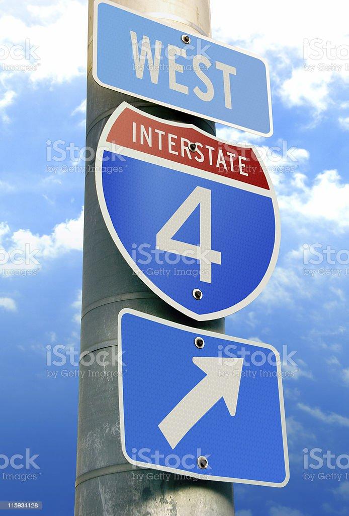 Interstate 4: Tampa, Orlando, Daytona Beach royalty-free stock photo