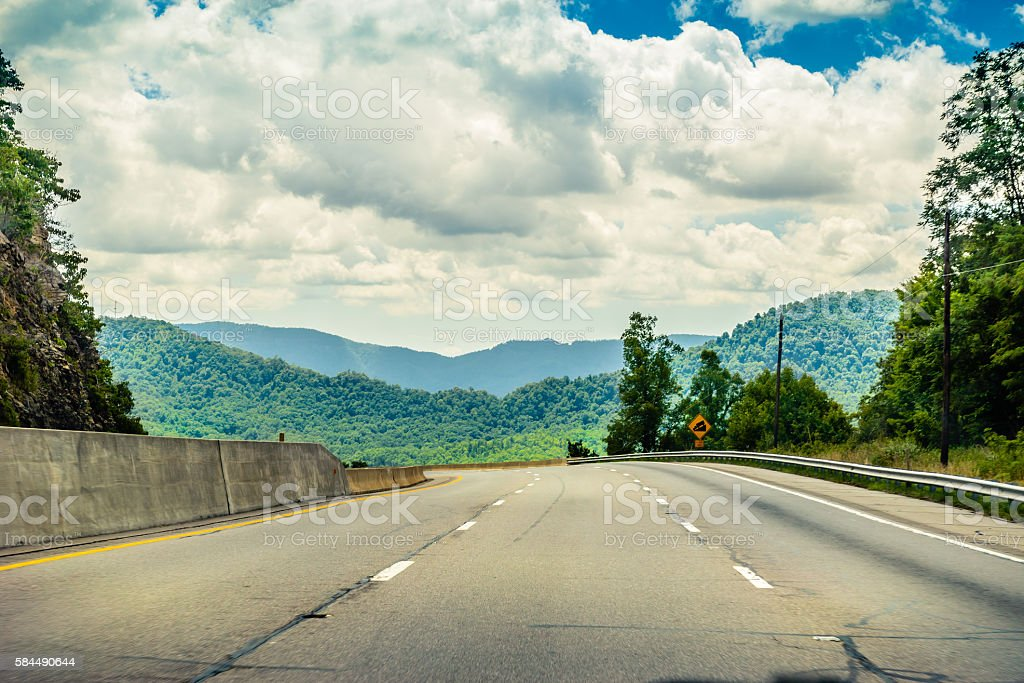 Interstate 40 at Buncombe County North Carolina stock photo