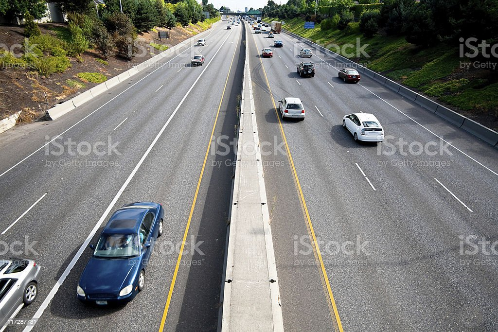 Interstate 5 Overpass royalty-free stock photo