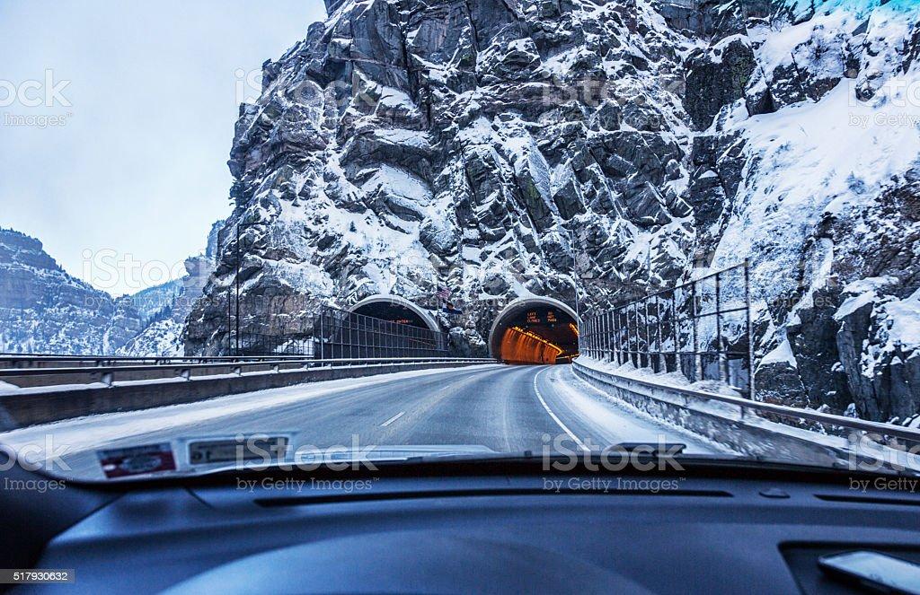 Interstate 70 Expressway Hanging Lake Tunnel Glenwood Springs Colorado stock photo