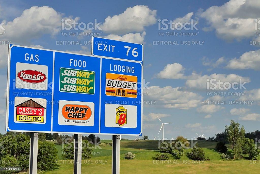 Interstate 80, Iowa royalty-free stock photo