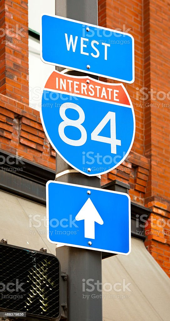 Interstate 84 Sign stock photo