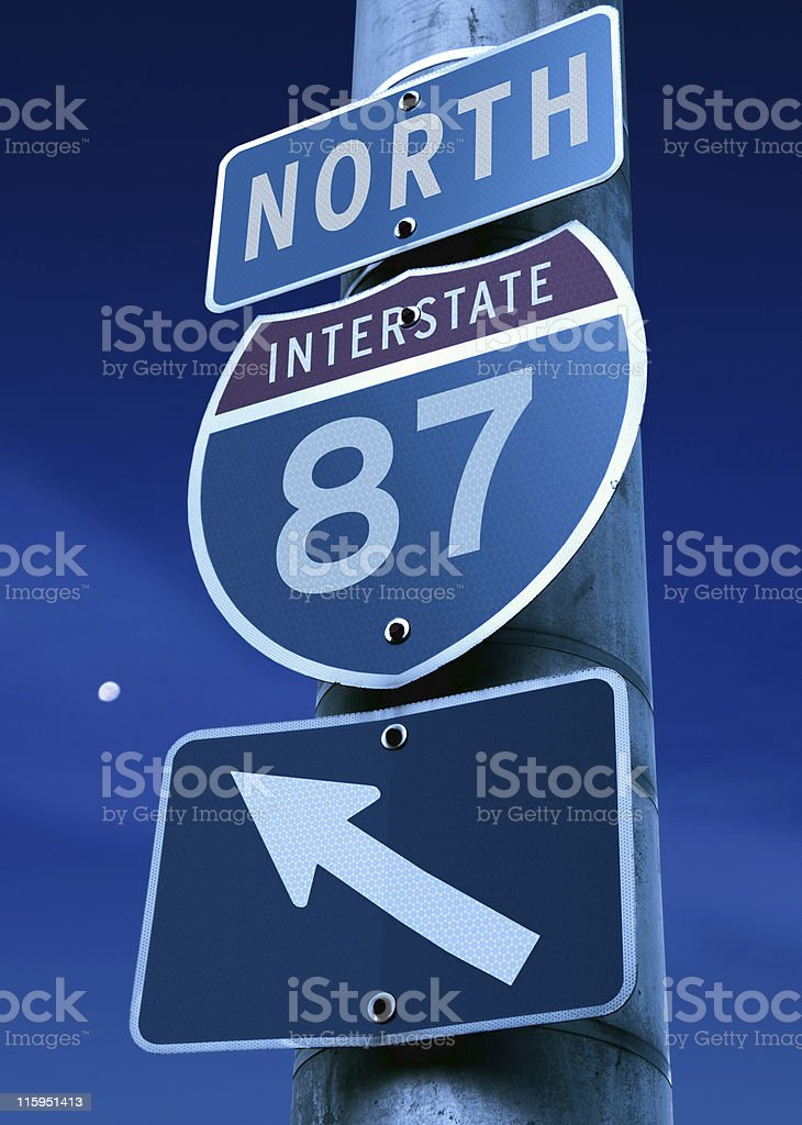 Interstate 87: Albany, New York City stock photo