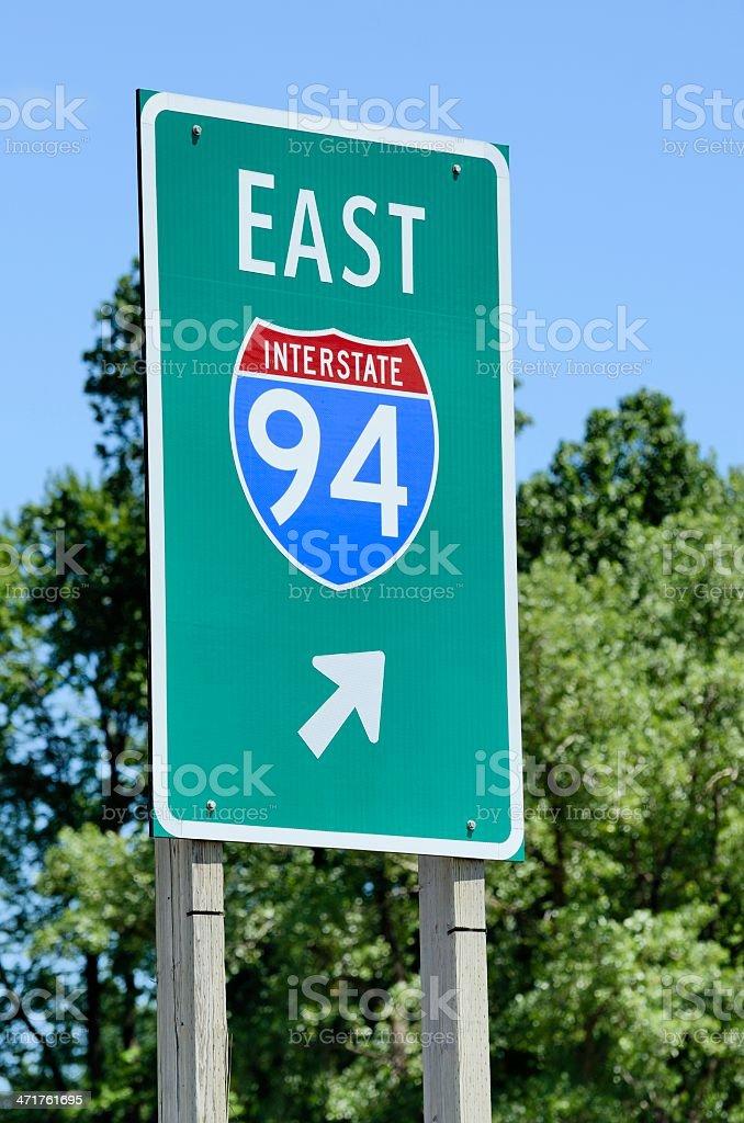 Interstate 94, Michigan stock photo