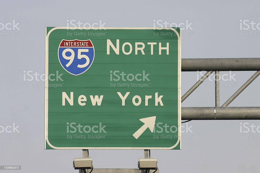 Interstate 95 - New York stock photo