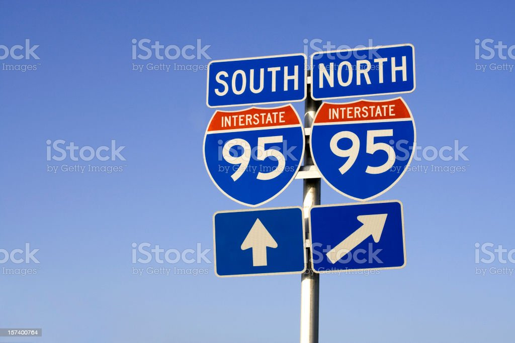Interstate 95 stock photo