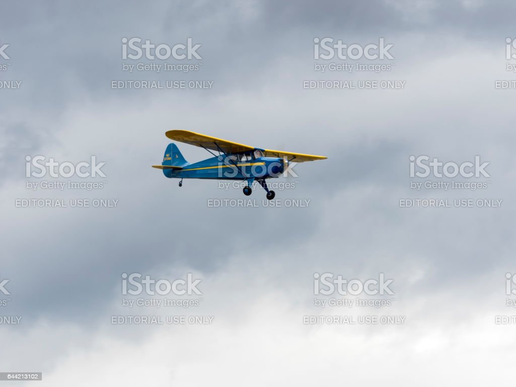 Interstate Cadet WWII Pearl Harbour Airshow 2016 Oregon stock photo