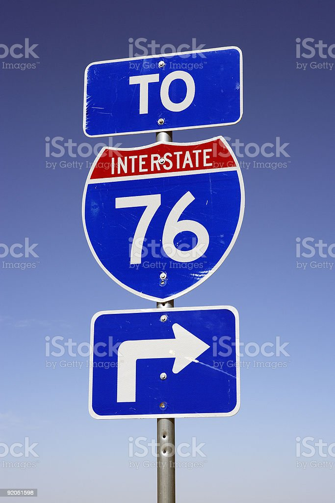 Interstate Freeway Sign royalty-free stock photo