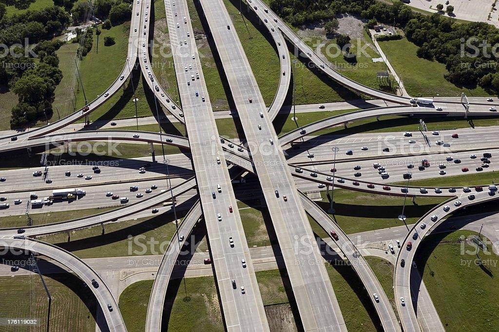 Interstate Highway Interchange stock photo