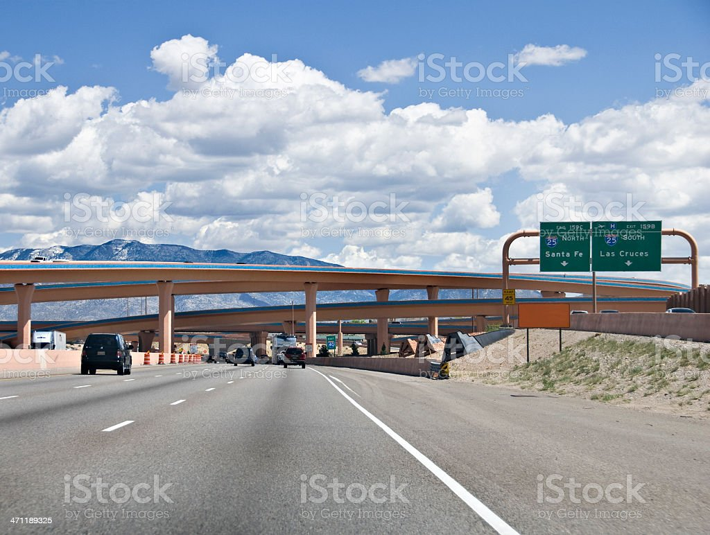 Interstate Junction - The Big I royalty-free stock photo