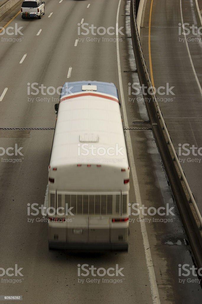 interstate passenger bus royalty-free stock photo