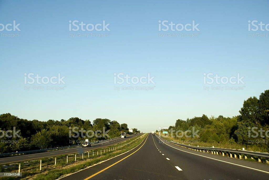 Interstate royalty-free stock photo