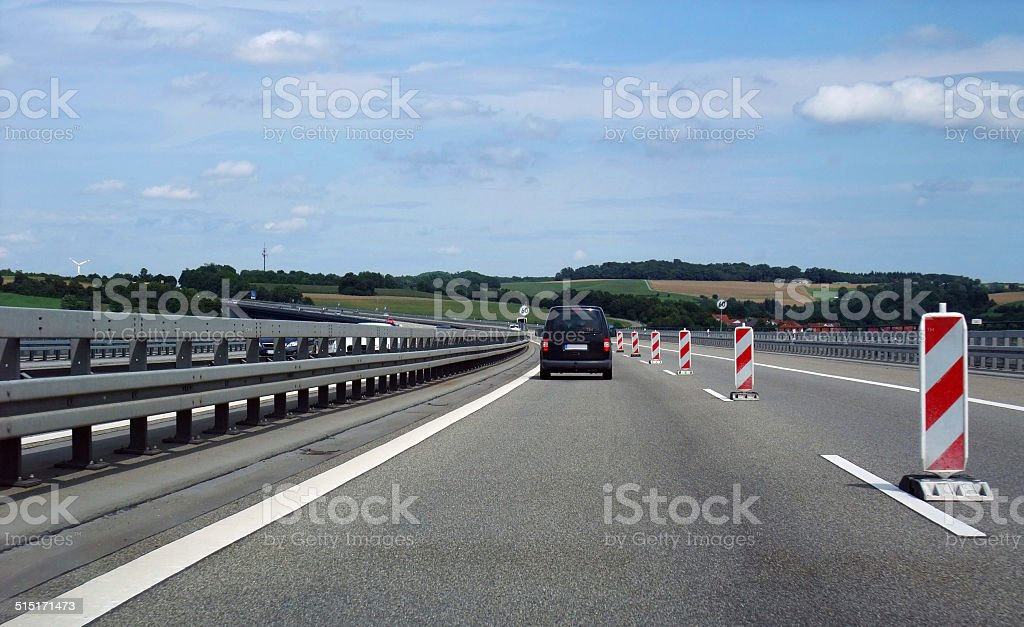 interstate scenery in germany stock photo