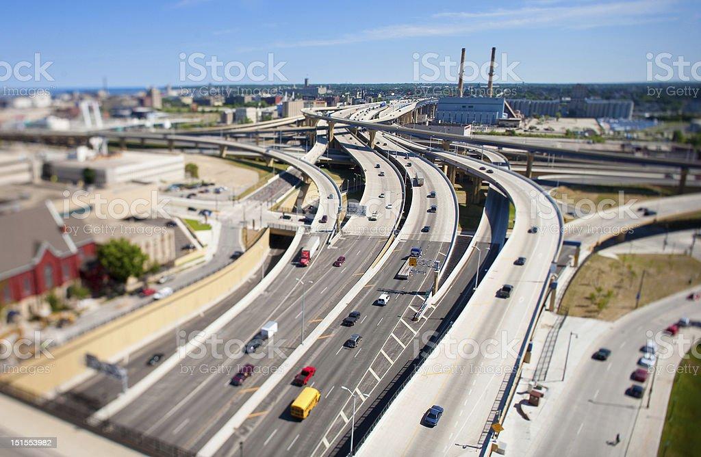 Interstate Traffic stock photo