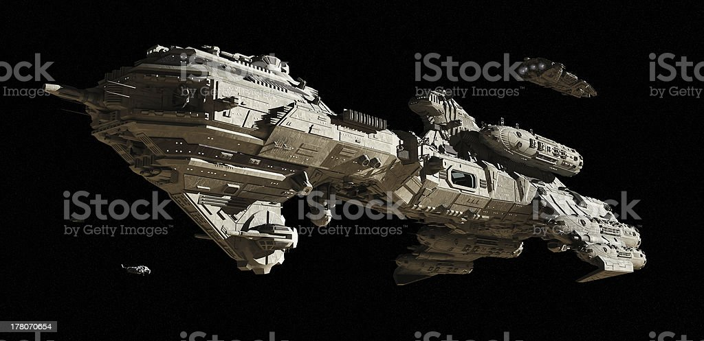 Interstellar Escort Frigate stock photo