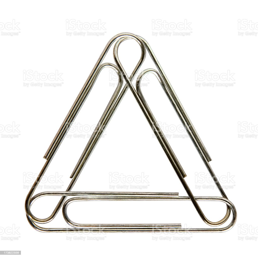 Intertwined paper clips royalty-free stock photo
