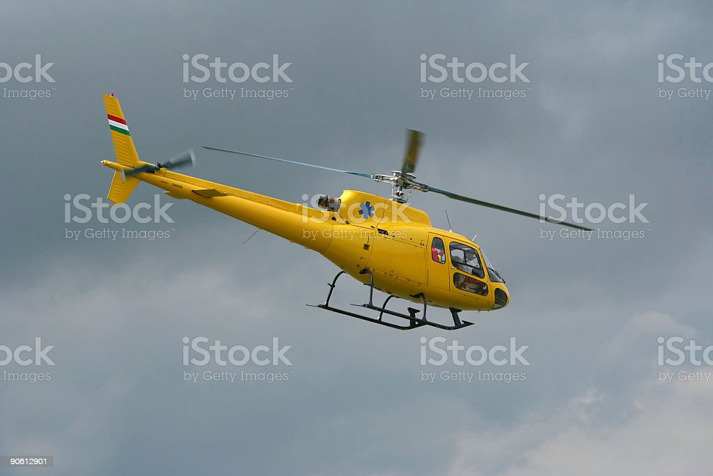 Intervention helicopter royalty-free stock photo