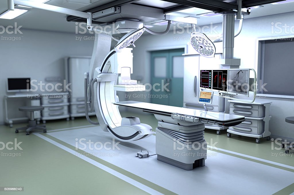 Interventional X-ray System stock photo