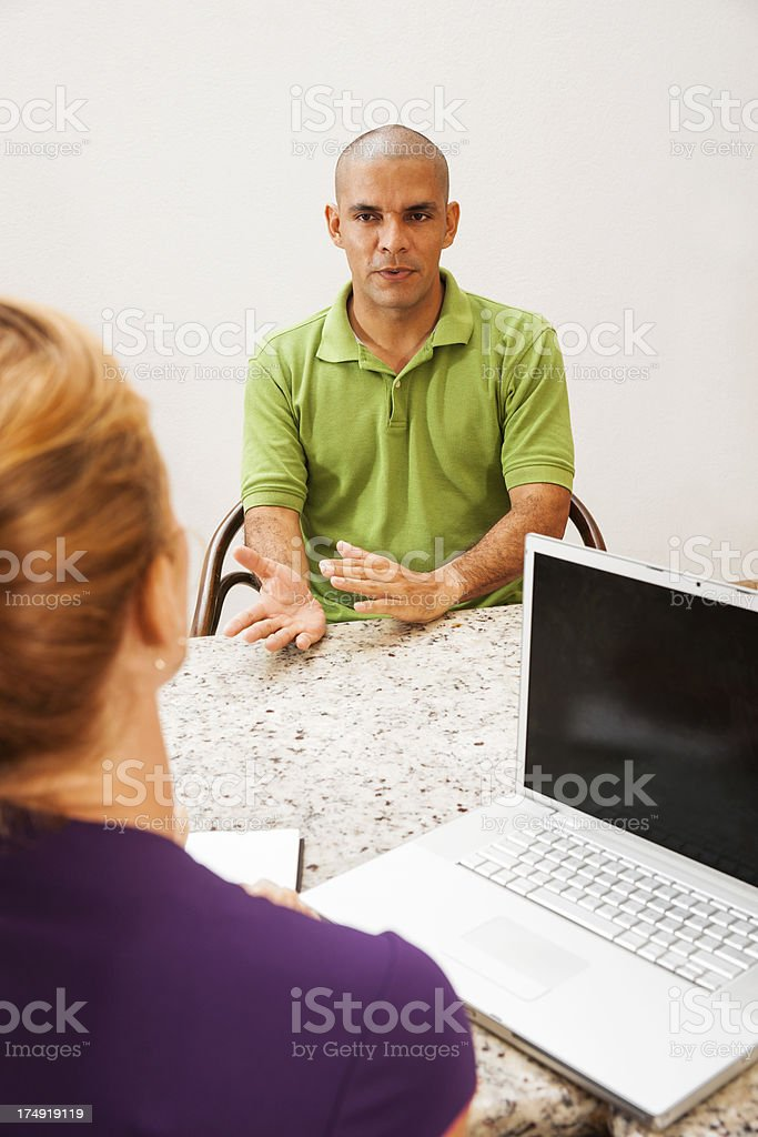 Interview or consultation royalty-free stock photo
